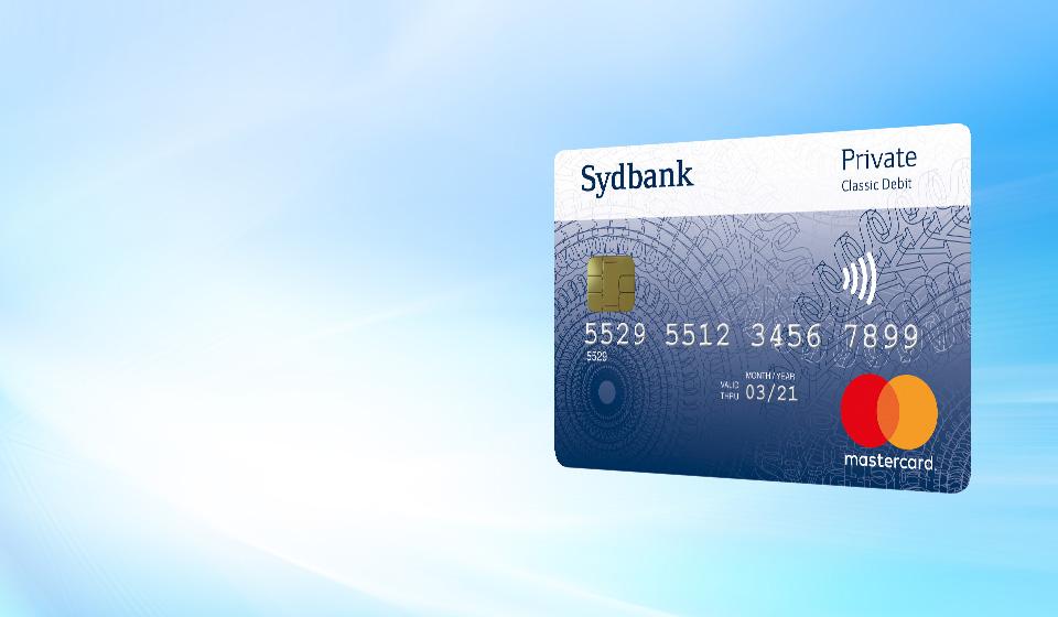 Sydbank Mastercard Private Classic Debit uden rejseforsikring