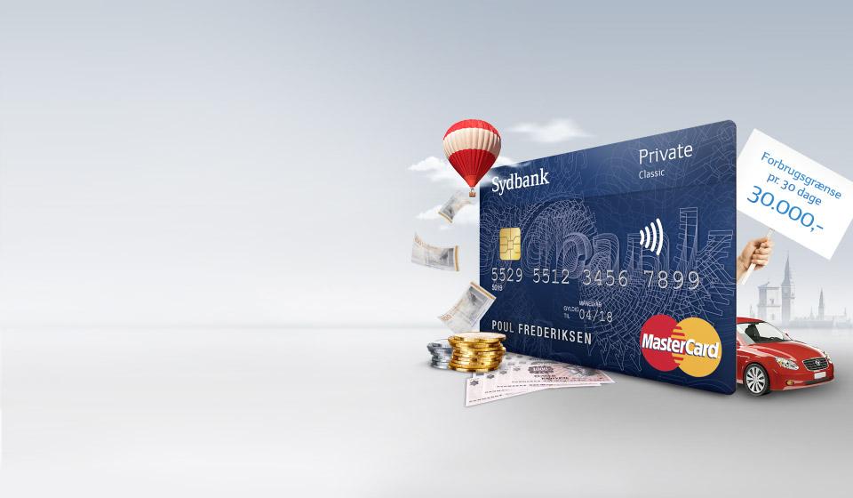 Sydbank MasterCard Private Classic uden rejseforsikring